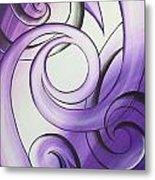 Purple Glass Koru Metal Print