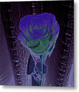 Purple Green Dark Rose Metal Print