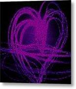 Purple Heart Metal Print by Aya Murrells