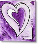 Purple Heart Love Painting Pop Art Blessed By Megan Duncanson Metal Print by Megan Duncanson