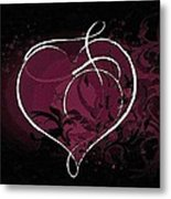 Purple Heart Of Passion Metal Print