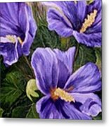 Purple Hibiscus Metal Print