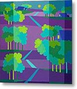 Purple Hill Farms Metal Print