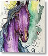 Purple Horse Metal Print