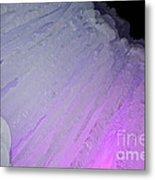 Purple Iris Ice Eye Metal Print