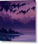 Purple Jungle Metal Print