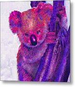 Purple Koala Metal Print