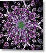 Purple Lilac Kalidescope Metal Print
