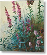 Purple Loosestrife And Watermind Metal Print