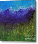 Purple Mountains By Jrr Metal Print