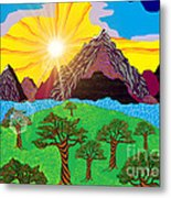 Purple Mountains Majesty Metal Print by Lewanda Laboy