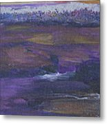 Purple Ocean Metal Print