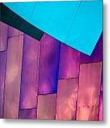 Purple Panels Metal Print