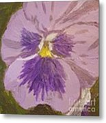 Purple Pansy 1 Metal Print