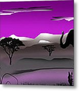 Purple Parkland Metal Print