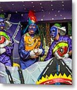 Purple Party People Metal Print