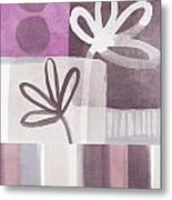 Purple Patchwork- Contemporary Art Metal Print