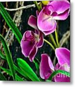 Purple Petals II Metal Print