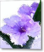 Purple Petunia Metal Print