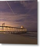 Purple Pier Metal Print