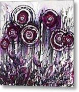 Purple Poppies Metal Print