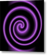 Purple Post Metal Print