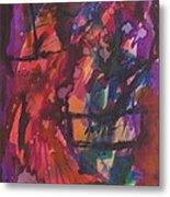 Purple Prayer Metal Print by Beena Samuel
