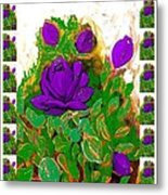 Purple Roses From The Garden 2 Metal Print