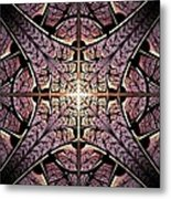Purple Shield Metal Print