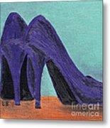 Purple Shoes Metal Print