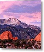 Purple Skies Over Pikes Peak Metal Print