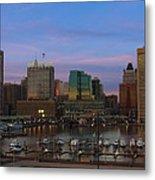 Purple Sky Above Downtown Baltimore Metal Print