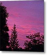 Purple Sky At Night Metal Print