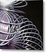 Purple Slinky Metal Print