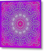 Purple Space Flower Metal Print