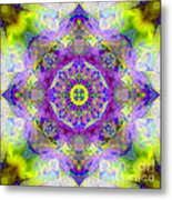Purple Star Yantra Mandala Metal Print