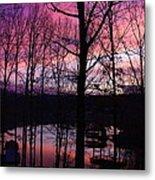 Purple Sunset On Smith Mt. Lake Metal Print