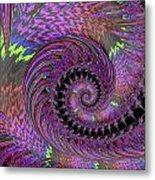 Purple Swirl Metal Print