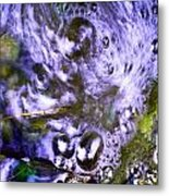 Purple Swoosh Metal Print