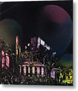 Purple Temple Metal Print