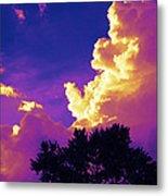 Purple Thunder Metal Print