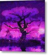 Purple Tree Of Life Metal Print
