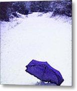 Purple Umbrella Metal Print by Amanda Elwell