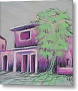 Purple Village Metal Print by Marcia Meade