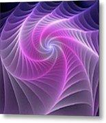 Purple Web Metal Print