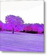 Purple World Metal Print