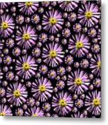 Purplish And Daisy Like Metal Print