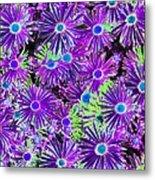 Purplish Posies 03 - Photopower 2935 Metal Print