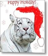 Purrfect Holiday Metal Print