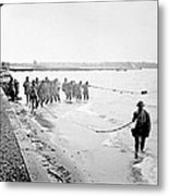 Purse Seining For Shad Delaware River C 1895 Metal Print